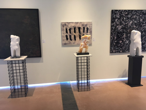 Gallery view sculpture Macedonia marble Honeycomb calcite Colorado marble