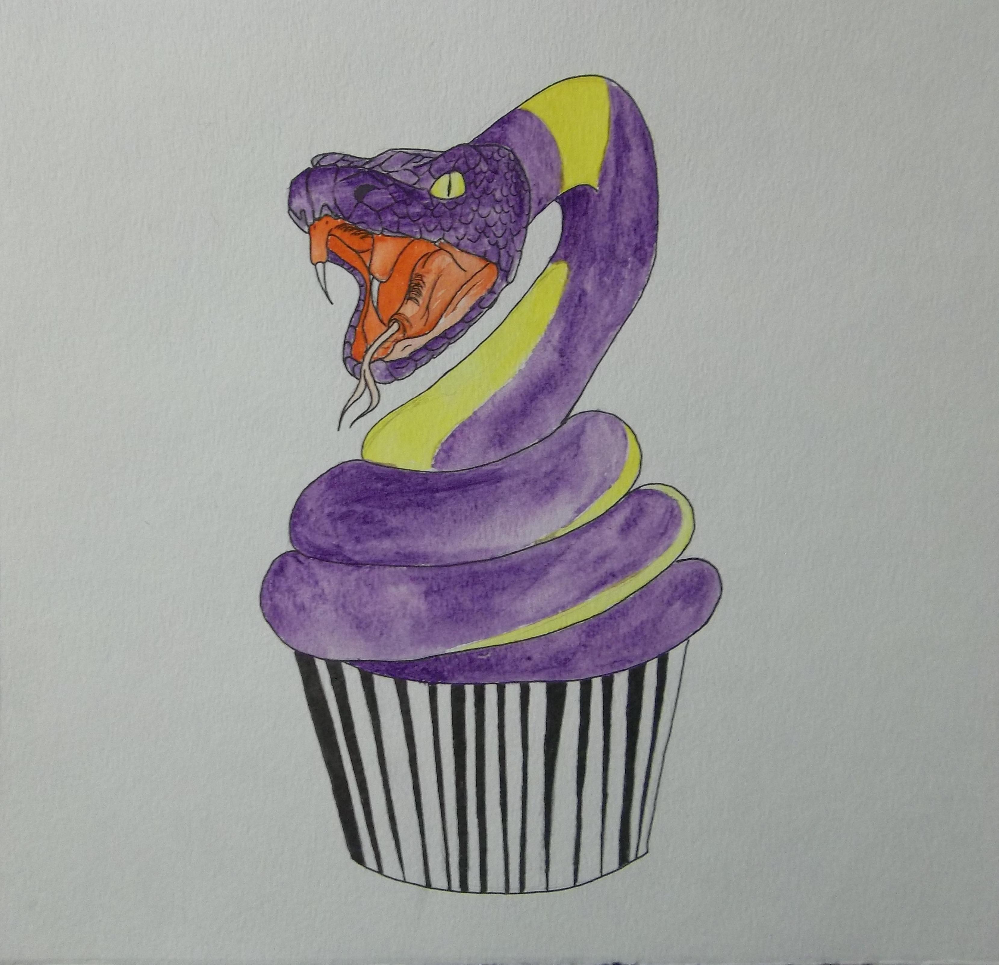 Ekans Cupcake