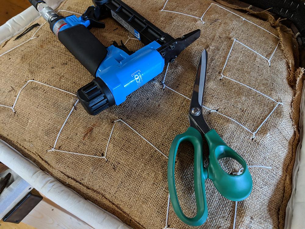 Fasco long nose staple and ergonomic scissors