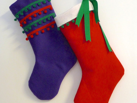 Easy Christmas Stocking Sewing Project