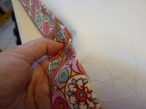 hand sewing side hems