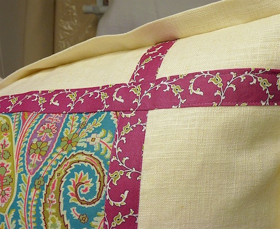 inset banding on a pillow