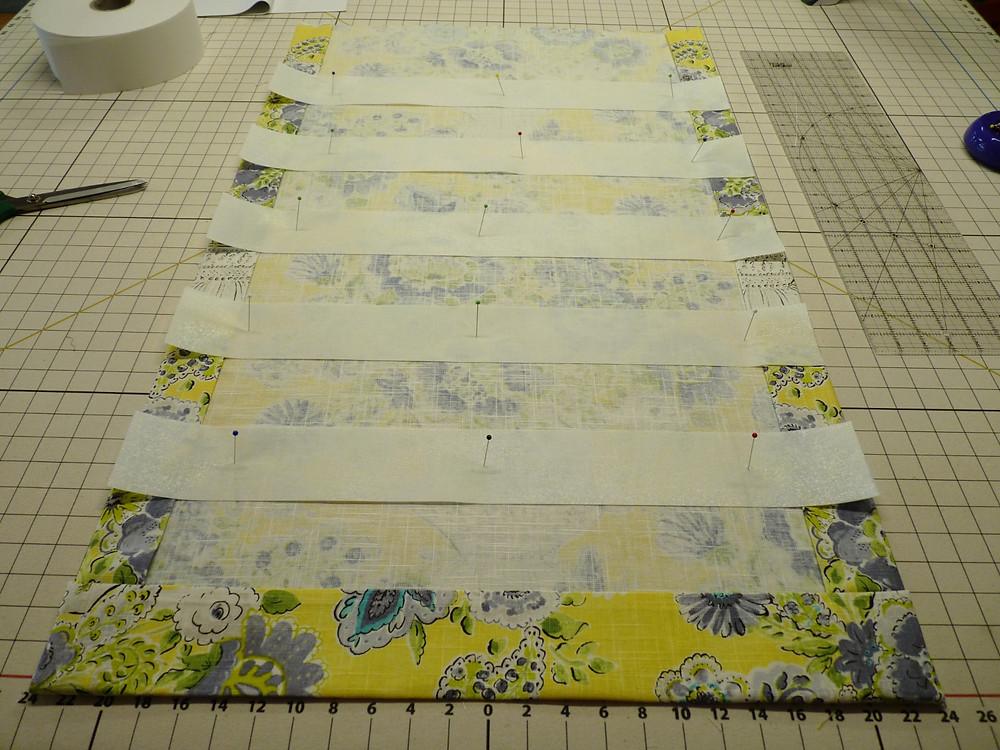 making a buckram fold Roman shade