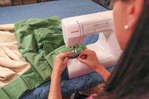 Sewing drapery pleats