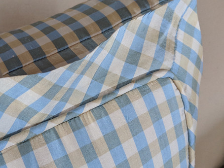 Boxed Pillow with Inset Pleated Flange