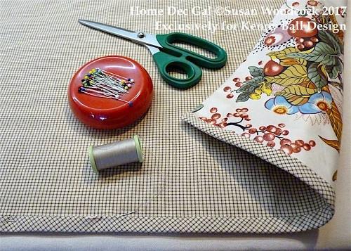 custom sewing: bias banding on drapery