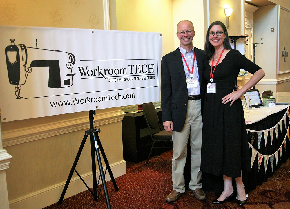 Rodger Walker and Susan Woodcock, producers of Custom Workroom Conference and Owners of Workroom Tech