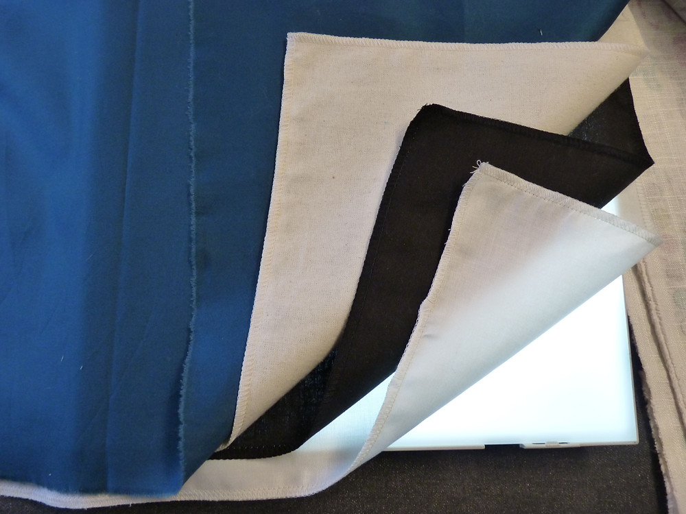 Layering fabrics for French blackout