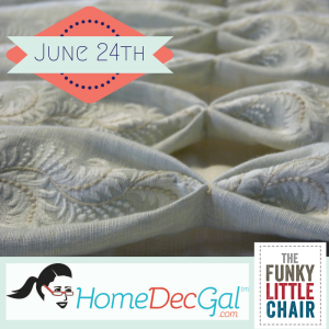 Drapery class June 24th at The Funky Little Chair
