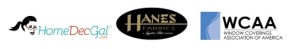 Home Dec Gal, Hanes and WCAA logos