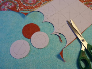 cut the circles for the grommets