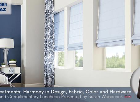 CEU Course in Phoenix, AZ: Window Treatment Harmony