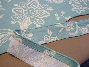 Sew welt cord to a strip of fabric.