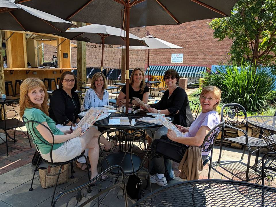 Charlotte WCAA members enjoying lunch in Tryon, NC
