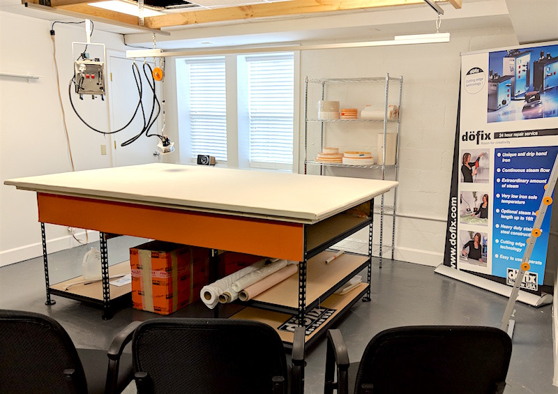 The new dofix training classroom at Workroom Tech