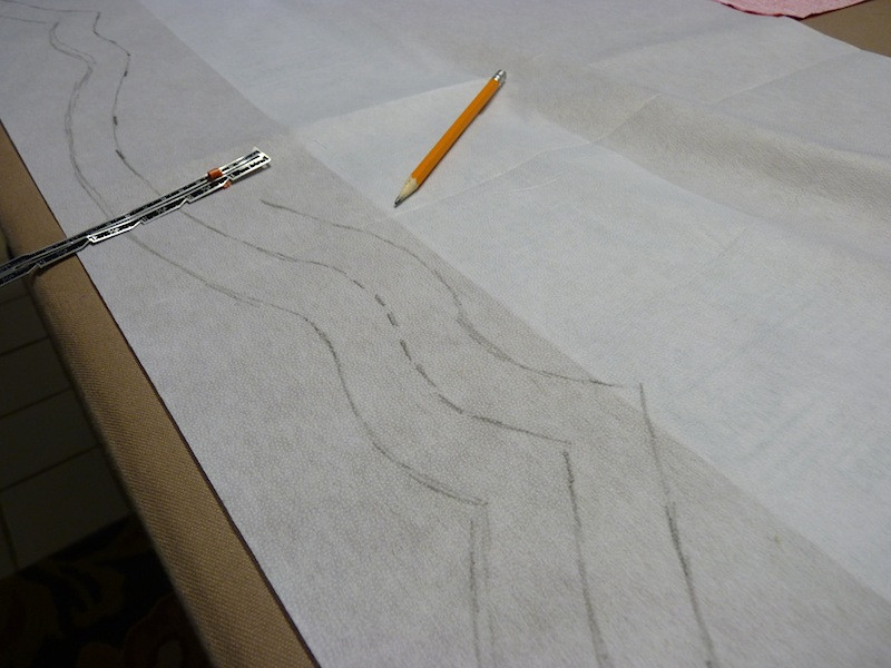 Draw the shape on an iron-on interfacing