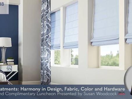 CEU Course in Boston Area: Window Treatment Harmony