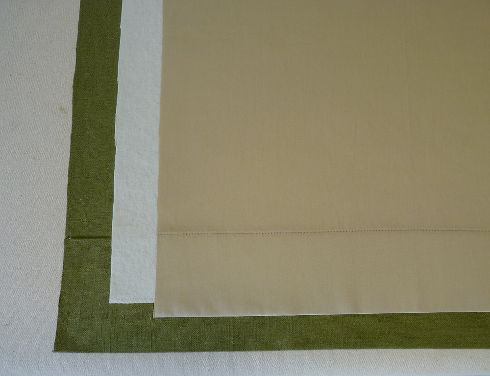 interlined drapery with lining cut to the finished width
