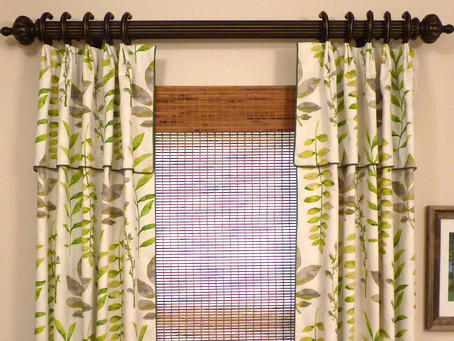 Pleated Drapery with Attached Valance