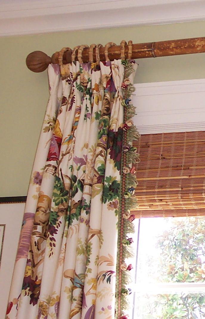 Pleated drapery created for Susan Lankenau, The Red Door, Charlottesville, VA