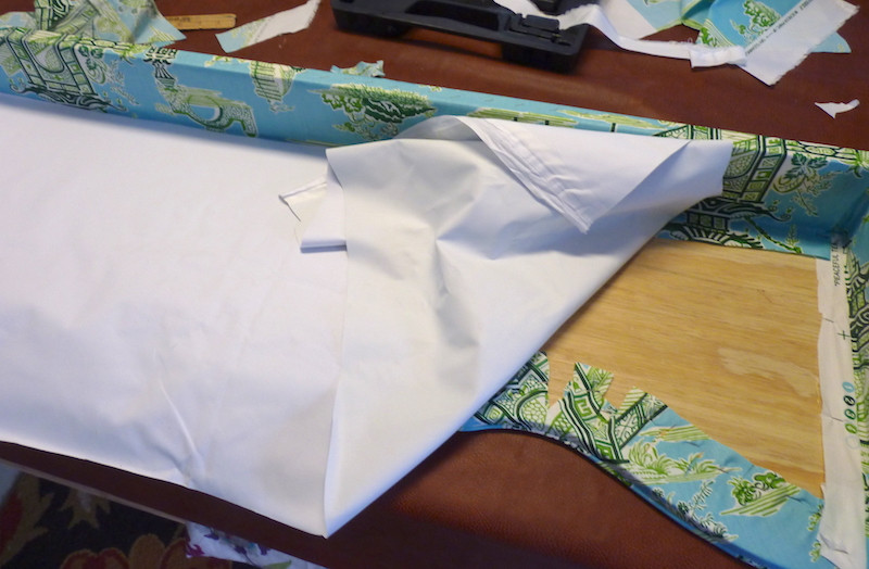 cover the back with blackout or dimout lining