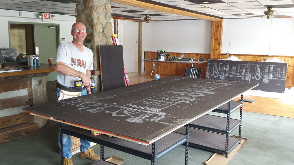 Rodger working on worktable #1!
