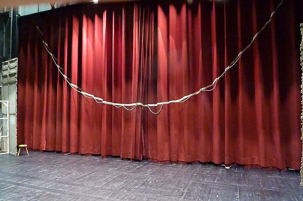 a theater drapery made in the tableau style