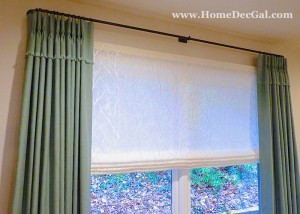 Draperies with sheer roman shade