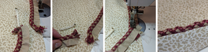 joining a braided cord by overlapping