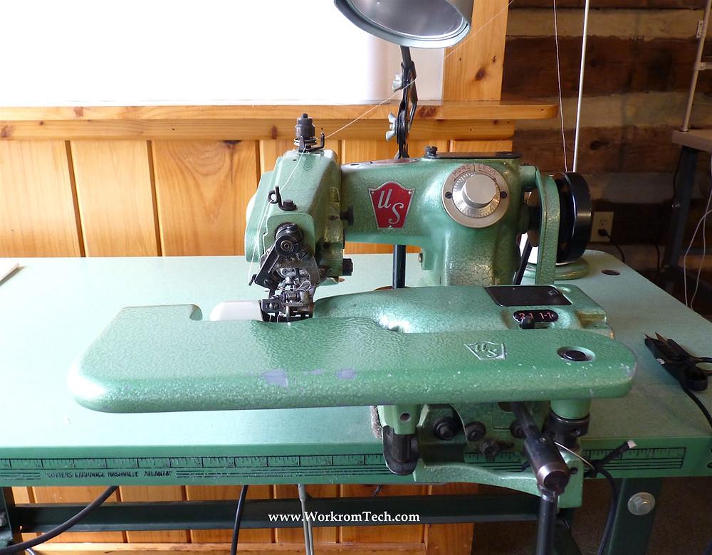 Blind hemming or blind stitch machine