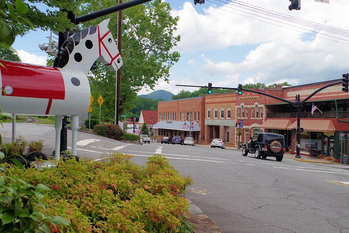 Trade Street in Tryon, NC