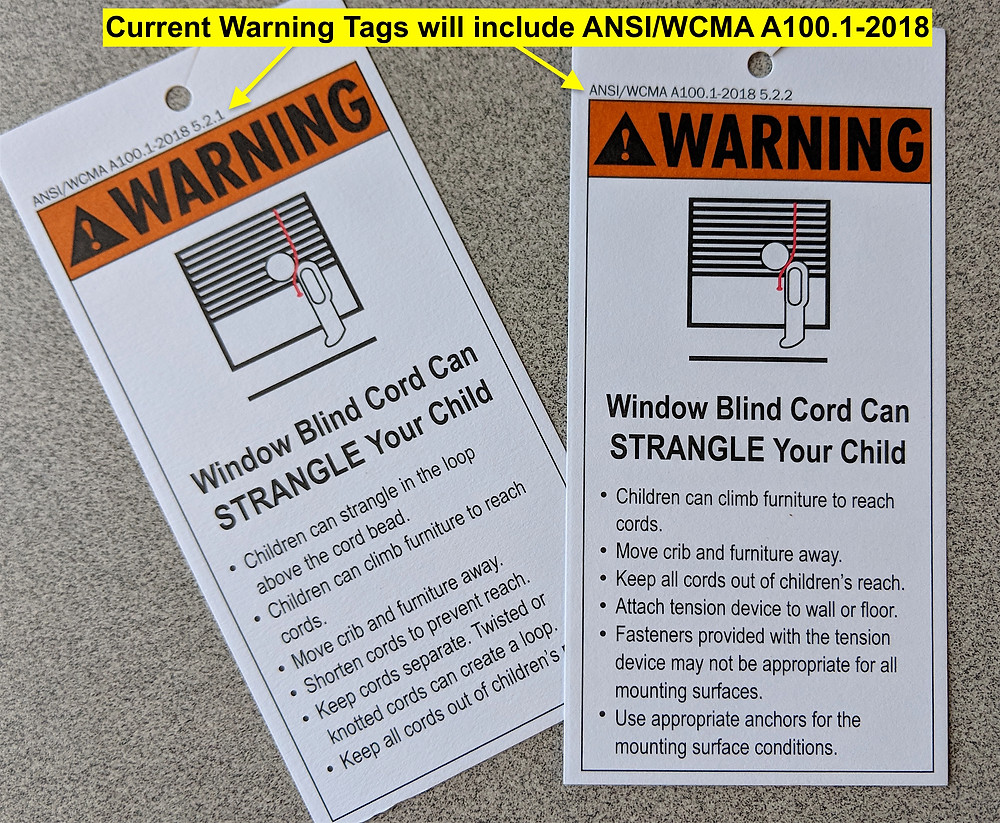 Current warning tags will include ANSI/WCMA A100.1-18
