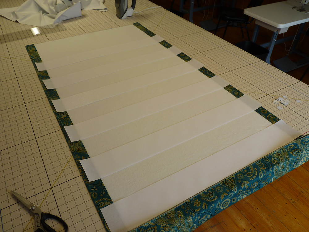 interlining is added to this buckram fold shade