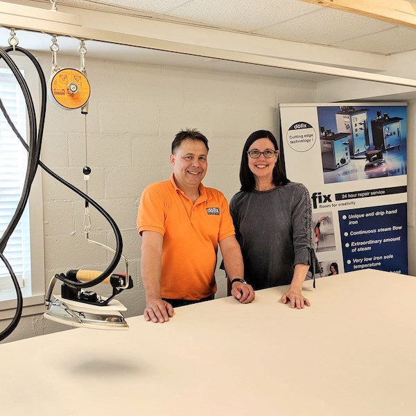 Robert Dohlemann and Susan Woodcock at Workroom Tech in Tryon, NC