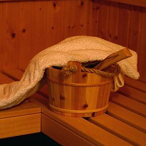Hotel sauna detail