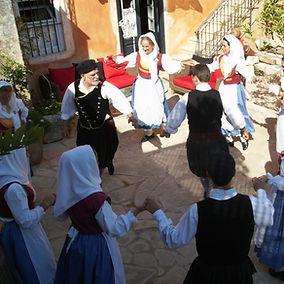 Kefalonian folk dancers in local costume.