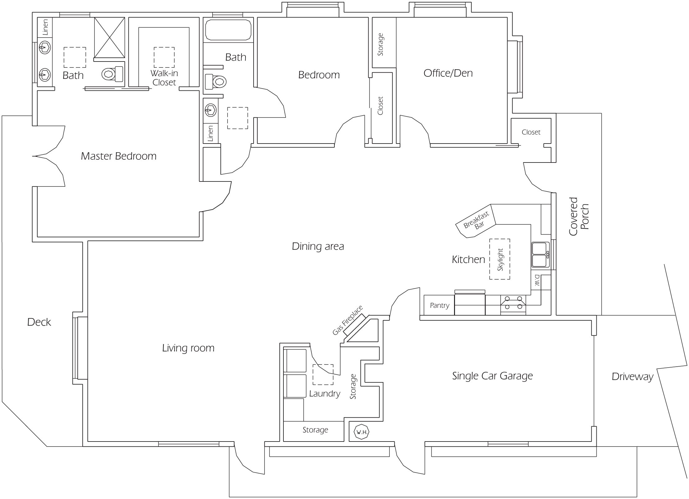 Floorplan 2 bedroom/2 bath
