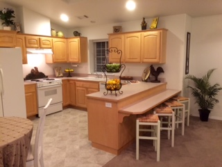 Eat-in kitchen and breakfast bar
