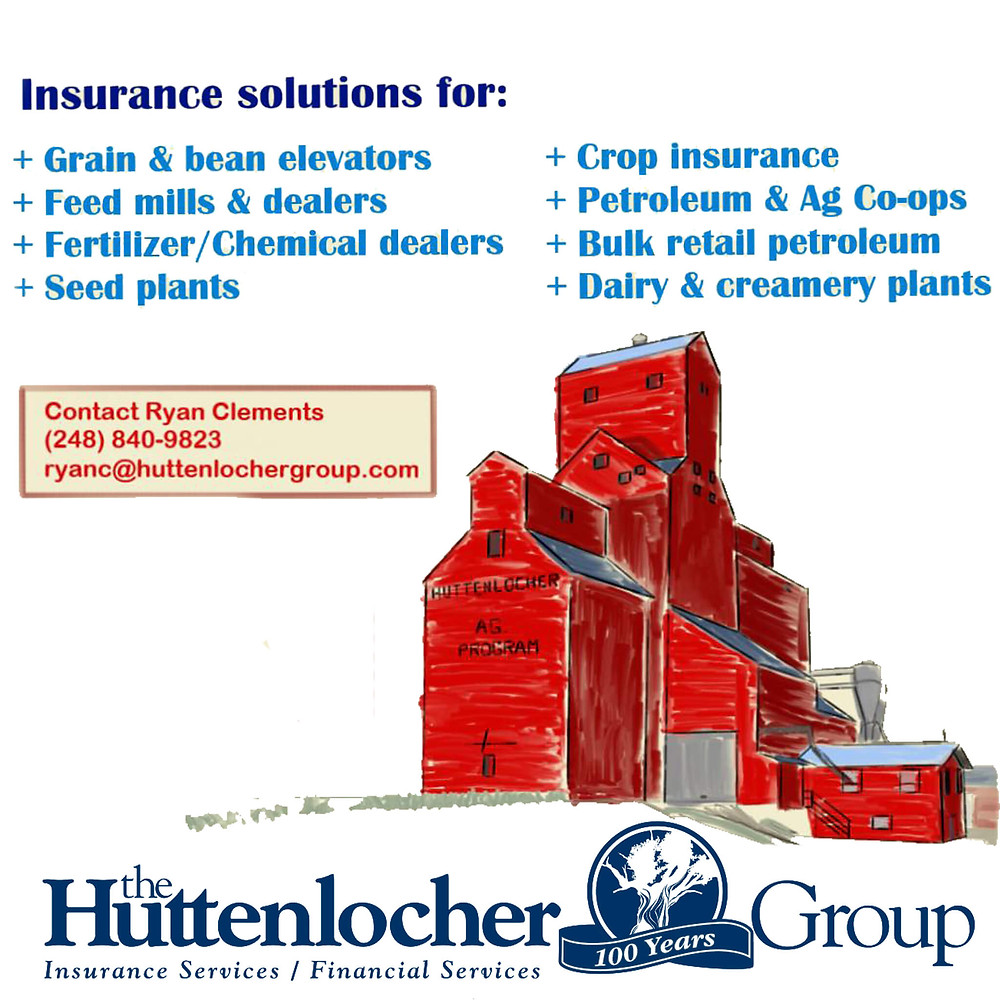 Grain & bean Elevators, Feed mills & dealers, Fertilizer/Chemical Dealers, Seed Plants, Crop Insurance, Petroleum & AG Co-ops, Bulk retail petroleum, Dairy & creamery plants