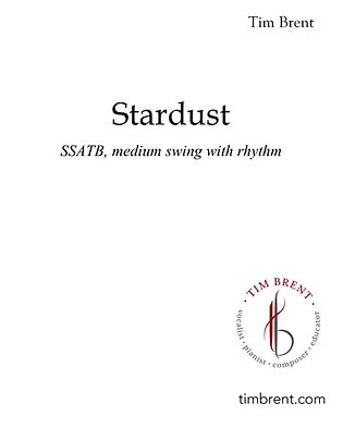 Stardust (SSATB) Medium Swing