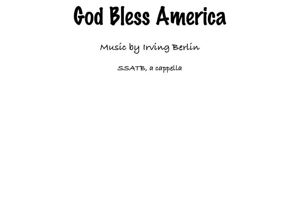 God Bless America (SSATB)