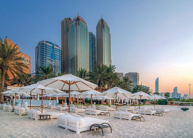 a beach in heraton Abu Dhabi Hotel & Res