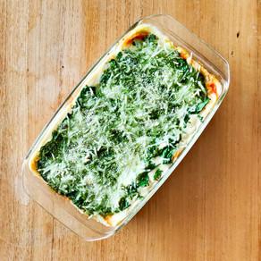Vegan lasagne met linzen en spinaziepesto