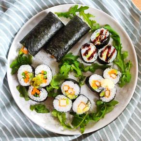 Simpele vegan sushi maki