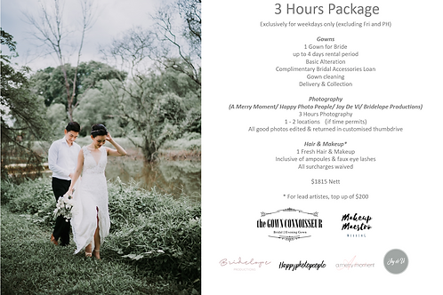 3 Hours PWS Package