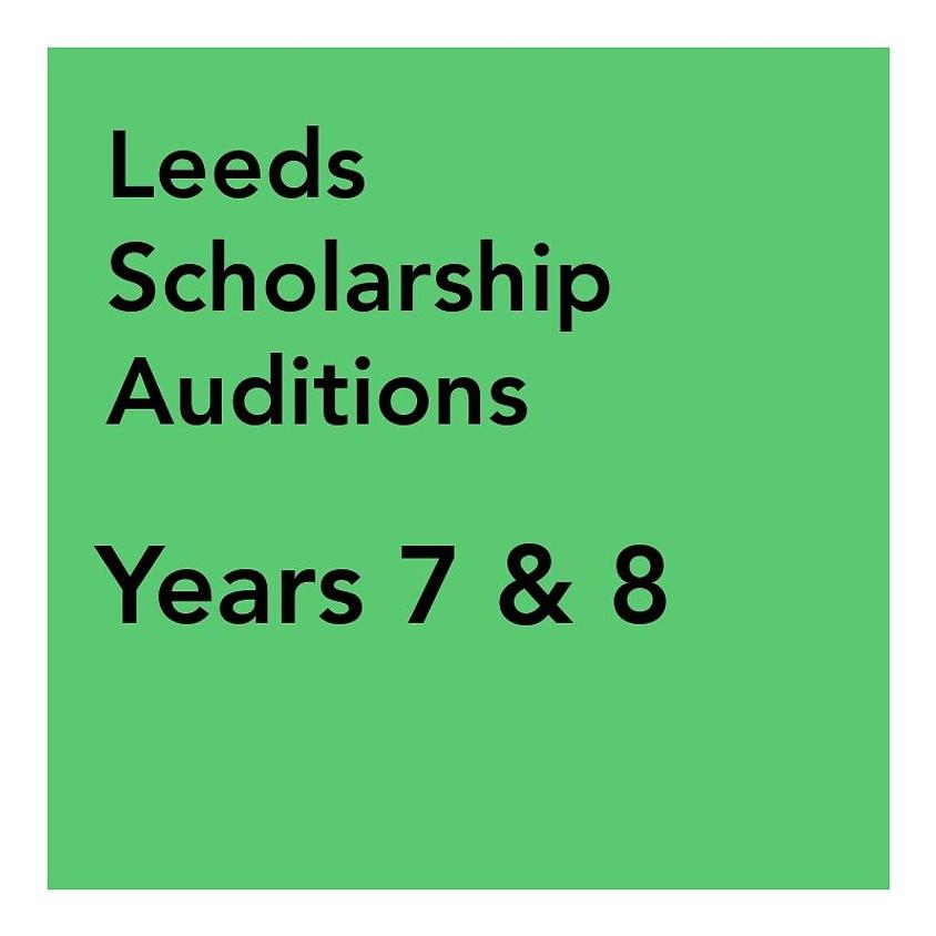 Leeds Scholarship Audition - Years 7 & 8