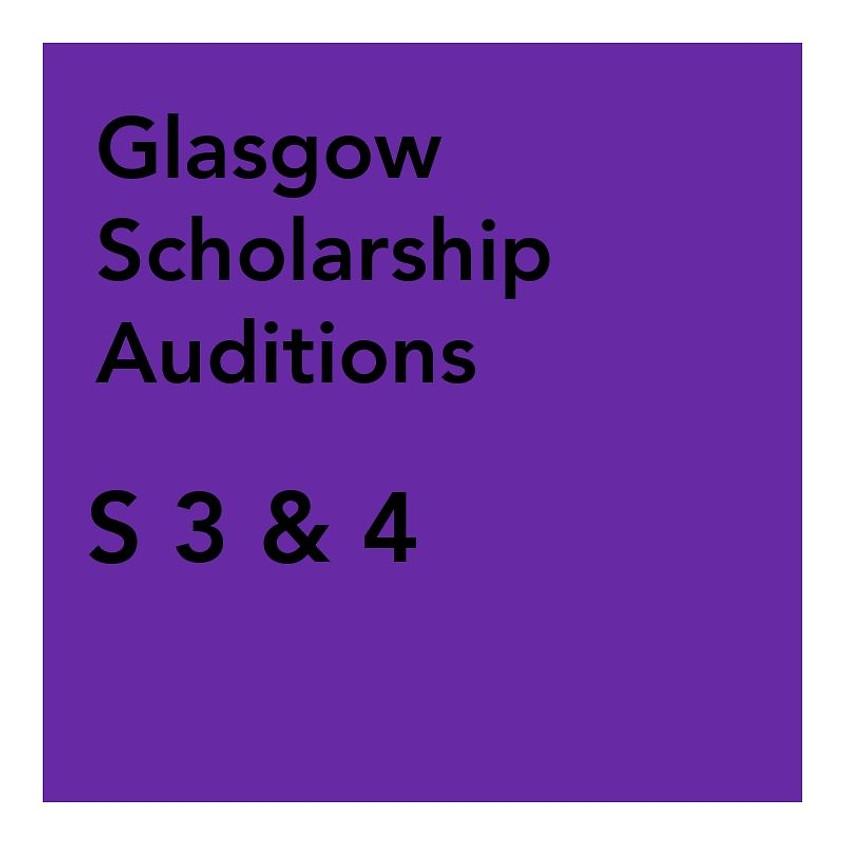 Glasgow Scholarship Audition - S3 & 4