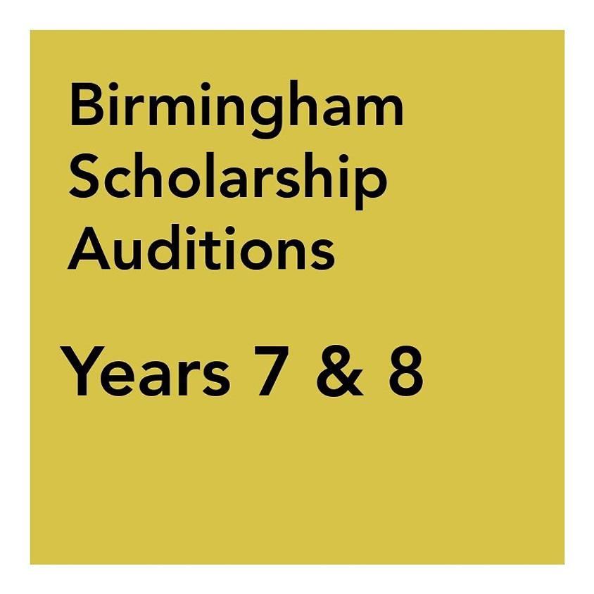 Birmingham Scholarship Audition - Years 7 & 8