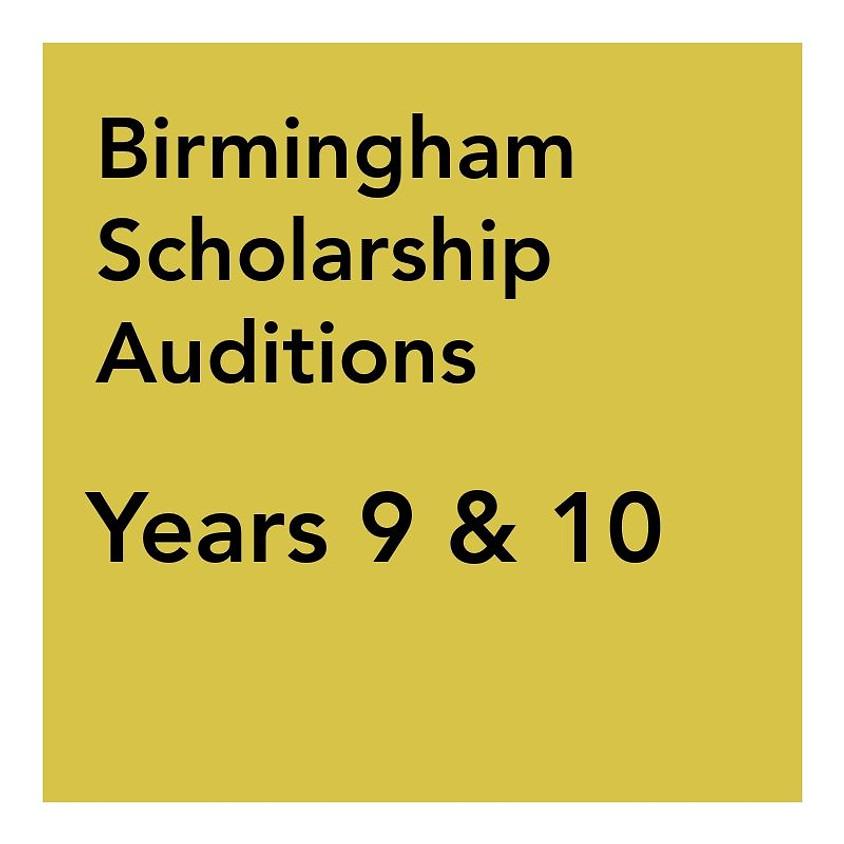 Birmingham Scholarship Audition - Years 9 & 10