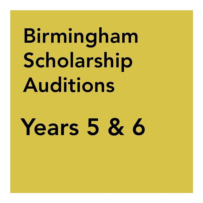 Birmingham Scholarship Audition - Years 5 & 6